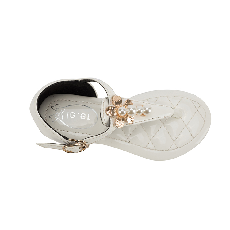 Cheap white sandals for youth girls