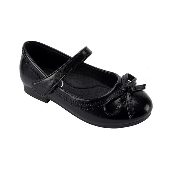 New fashion nice girls black school shoes