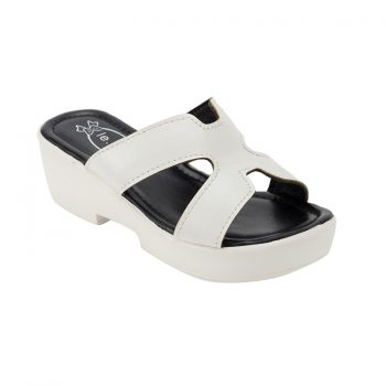 girls outdoor white slippers