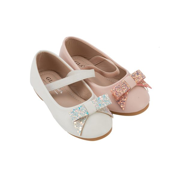 Girl Mary Jane shoes white and pink Pu upper material