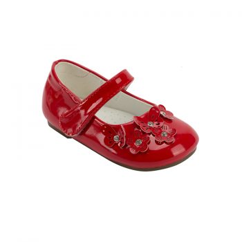 girl red mary jane shoes