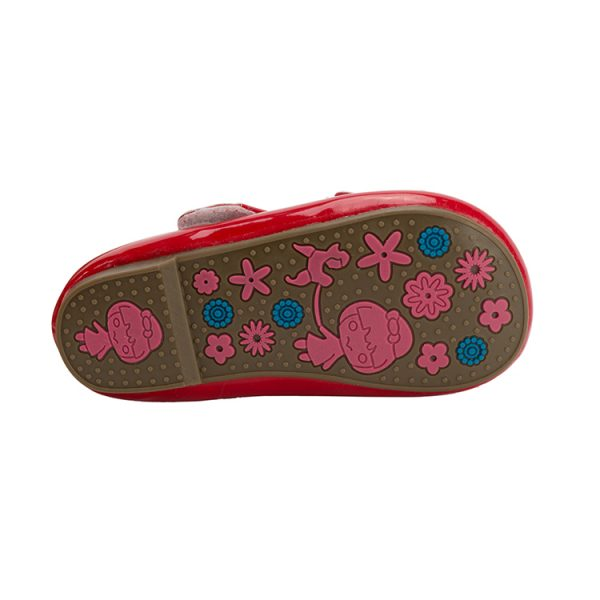Comfortable baby girl red Mary Jane shoes