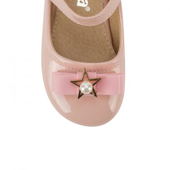 Custom girls leather mary jane ballet flat