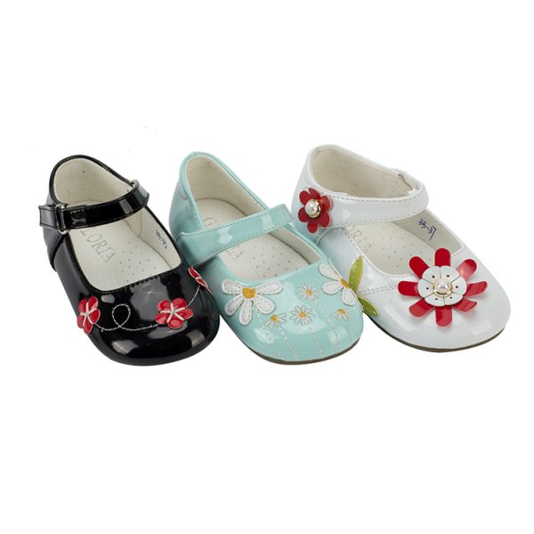 Directly sale white blue black little girl Mary Jane shoes