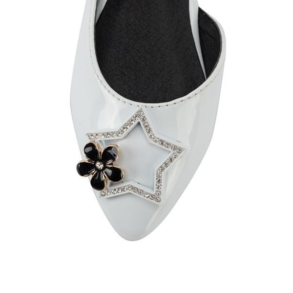 Baby girls star decoration hollow leather Mary Jane party shoes