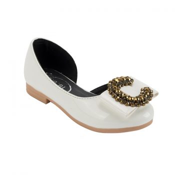 Fashionable cute girl C ring buckle Mary Jane shoes