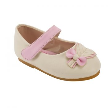 Leaf decoration velcro strap mary jane baby flat shoes