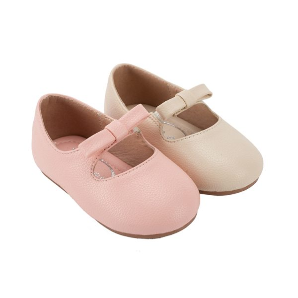 Smart and elegant pink mary jane baby flat shoes