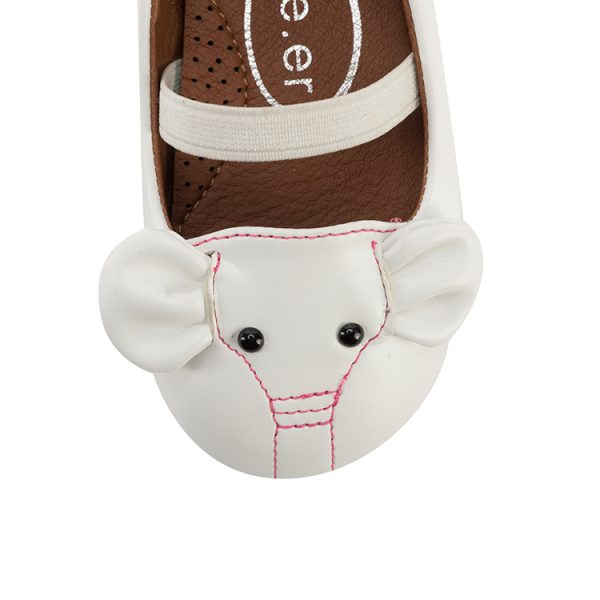 Cute elephant decorated mary jane baby toddler shoes