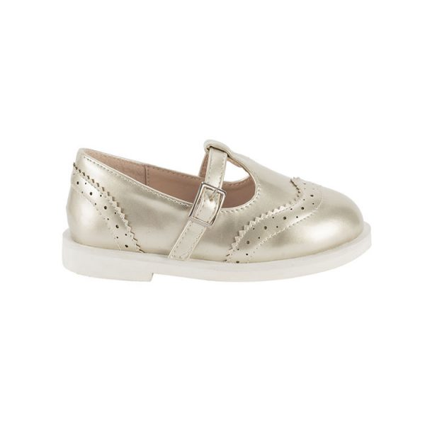 Silvery mary jane shoes kids