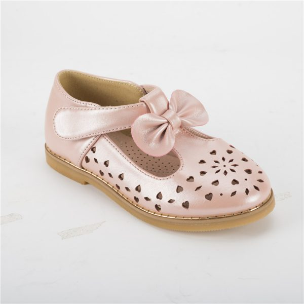 New design pink girls mary jane shoes