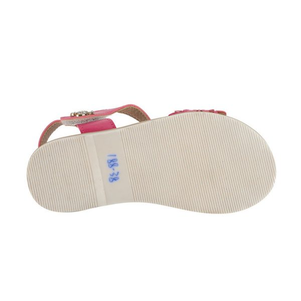 Lime red and white keen sandals for girl